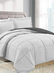 SILVER/CHARCOAL COMFORTER