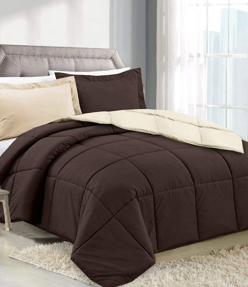 Chocolate/Cream Comforter
