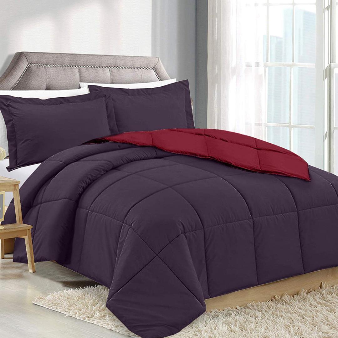 Eggplant/Red Comforter