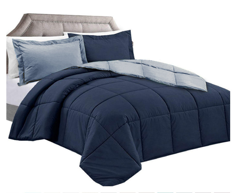 Navy/Charcoal Comforter no Queen