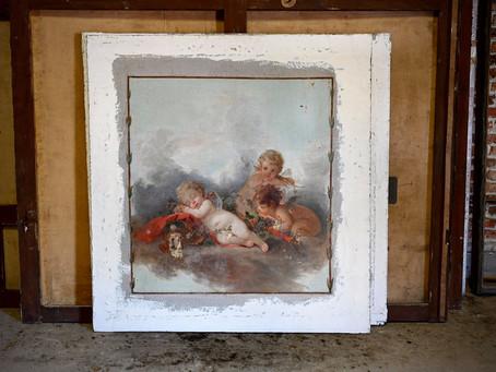 De schilderijen van de Salon.