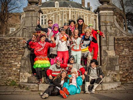 Carnaval foto's bij Kasteel Borgharen.