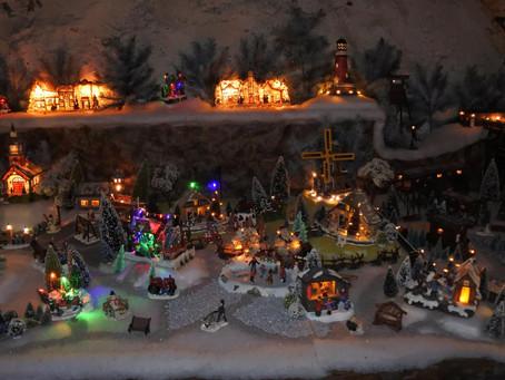 Kerst dorpje in Kasteel Borgharen.