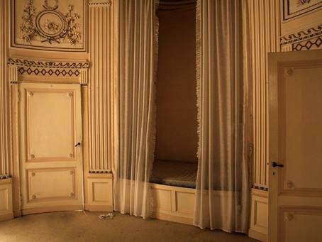 De blauwe of ronde kamer van Kasteel Borgharen.