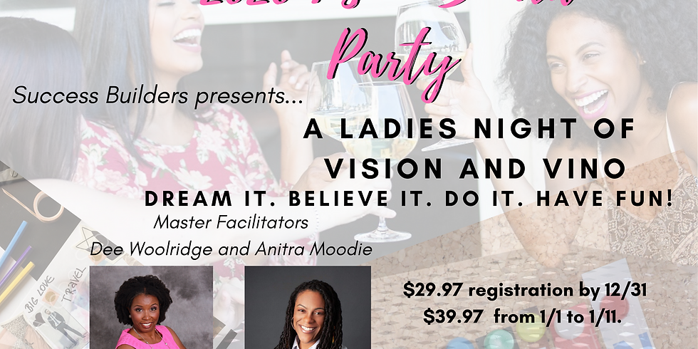 2020 Vino and Vision Board Party