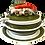 Thumbnail: Mid-Century Trompe l'Oeil Vegetable Majolica Tureen, Under Plate, and Ladle