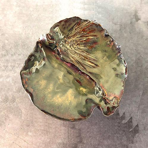 SOLD: Art Pottery Dish - Ponderosa Pine by Gail J. Heilmann