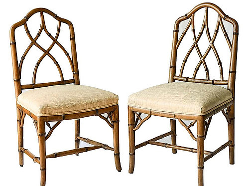 SOLD: Faux Bamboo Chairs (Pair)