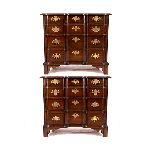 SOLD: Pair Solid Cherry Goddard Chests