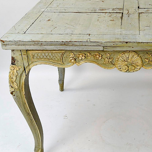 SOLD! French Painted Extension Table
