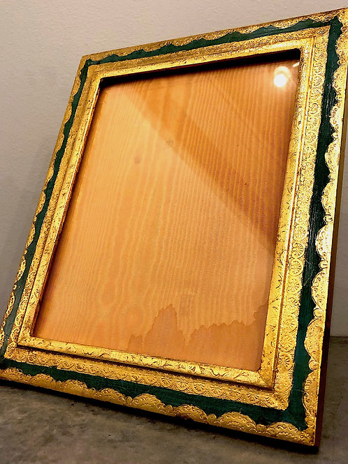 "SOLD: Mid-Century Italian Florentine 8 X 10"" Frame"