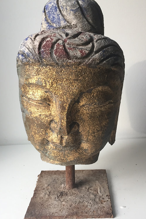 SOLD! Asian Carved Stone Buddha Head