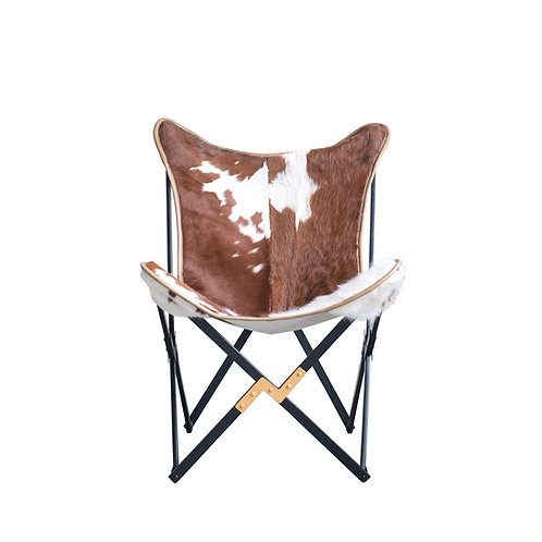 Hipster Butterfly Chair In Cowhide