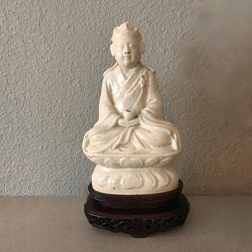 Antique Blanc De Chine Dehua Porcelain Buddha