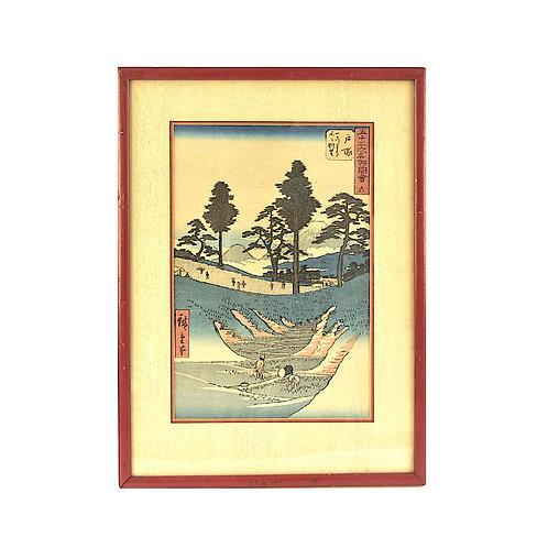 SOLD: Ando Hiroshige Woodblock circa 1855