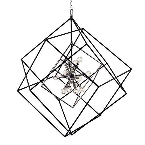Hudson Valley Lighting Roundout 12 Light Cubist Chandelier - Vintage
