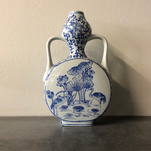 SOLD: Chinese Moon & Gourd Flask