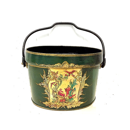 SOLD: Large Tole Chinoise Bucket - F. Francis & Son