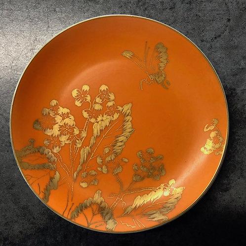 SOLD: Dorothy Thorpe Persimmon Salad Plates - SET OF SIX