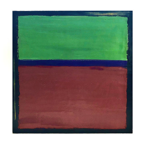Rothko-Esque Abstract Encaustic Painting in Red, Green, and Blue