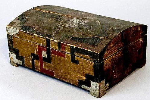 Aztec Revival Wooden Box