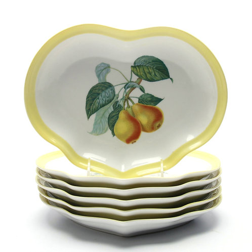 SOLD: Vista Alegre for Mottahedeh - Fruit Plates SIX