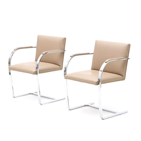 SOLD: Mies van der Rohe BRNO Chairs - PAIR