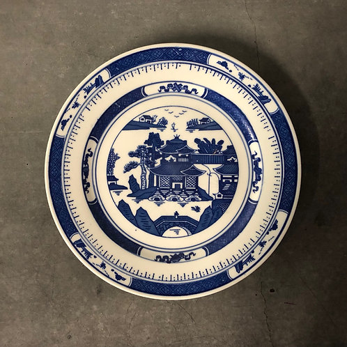 Chinese Canton/Nanking Pattern Porcelain Plate