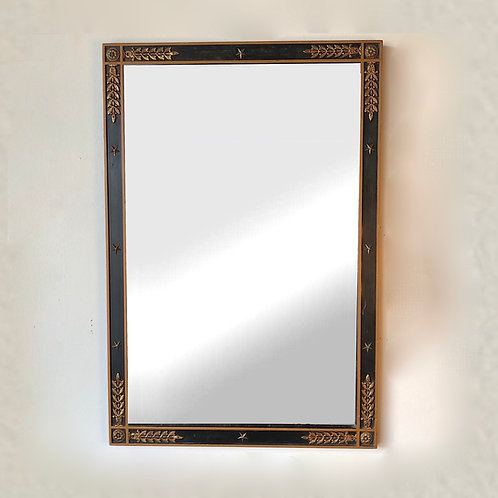 Kittinger Neoclassical Mirror With Brass Embellishments