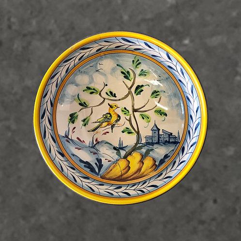 Vintage Italian Majolica Centerpiece Bowl - Hand-Painted Landscape