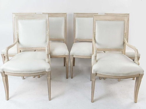 SOLD! French Dauphin Chairs - Set of Six