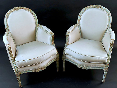 SOLD! Swedish Louis XVI Bergere Chairs - PAIR