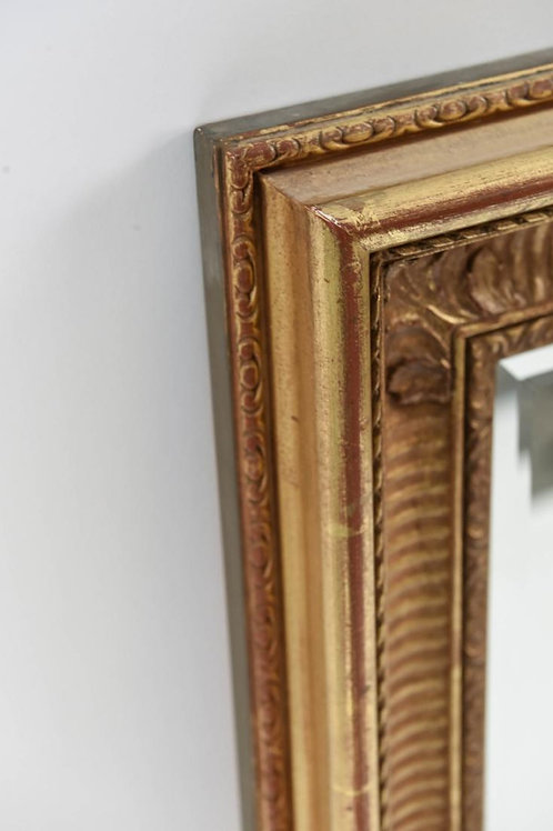 SOLD: Gold Leaf Beveled Mirror - J.Pocker & Sons