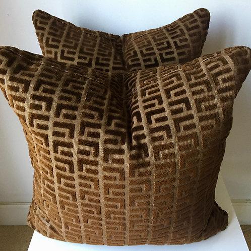 SOLD: Four Custom Cut Velvet Pillows