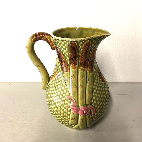 SOLD: Bordallo Pinheiro Vintage Asparagus Water Pitcher