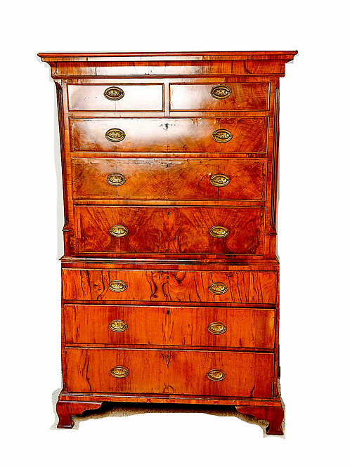 SOLD: George III Burlwood Chest on Chest