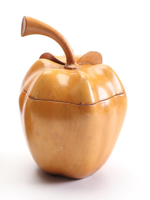 SOLD: Guglielmo Pecorini Carved Apple Box