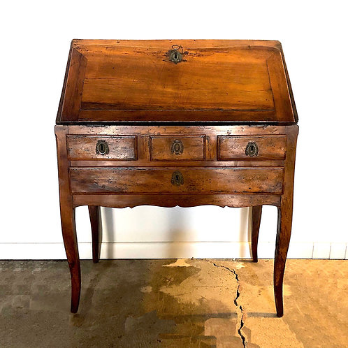 18th Century French Provincial Slant Front Desk - Walnut