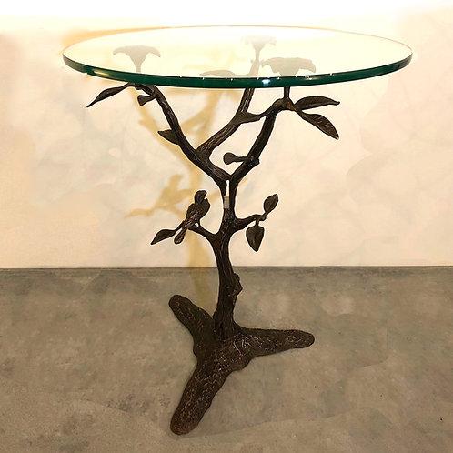 SOLD: Willy Daro Seventies Bronze Tree & Bird Table