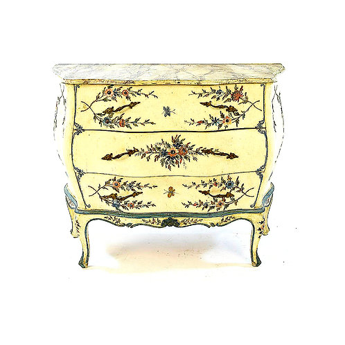 SOLD: Hand-Painted French Bombe' Chest