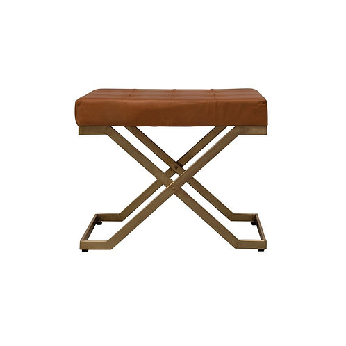 Mod Squad Tufted Leather Stool