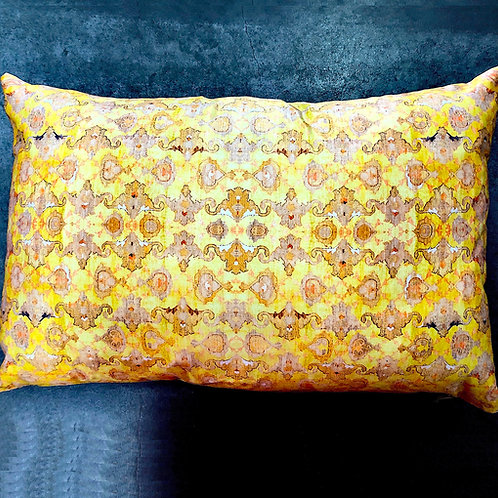 "NEW - 14"" x 22"" ""Polaniaise"" Down Filled Lumbar Pillow by Poetic Pillow"