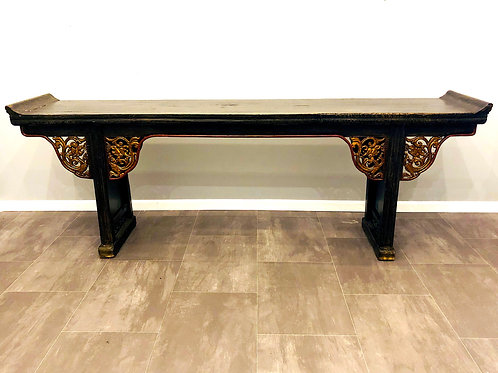 Antique Chinese Altar Table - Over 8 Foot Long