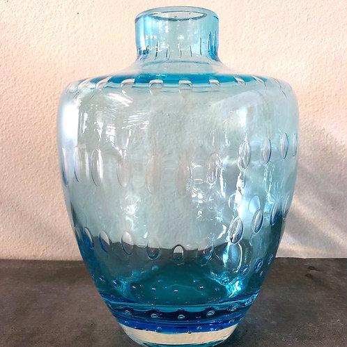 SOLD: Mid-Century Murano Turquoise Bubble Vase