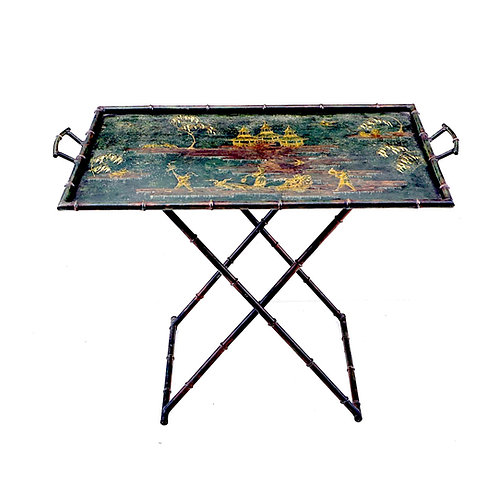 SOLD: Italian Chinoiserie Tray Table