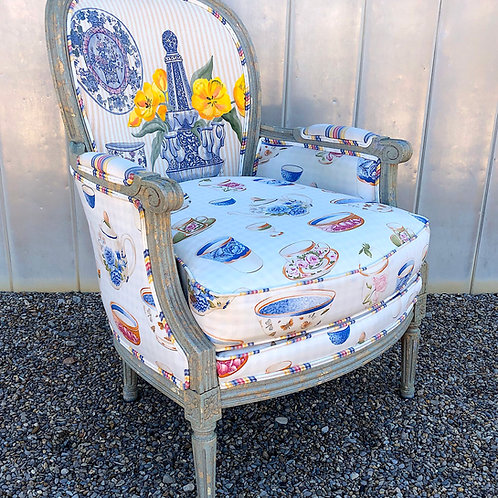 """Wesley Hall """"Leia"""" French Bergere Chair"""