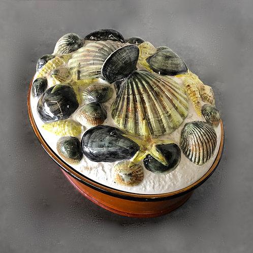Mid-Century Majolica Shellfish Tureen by Secla Portugal