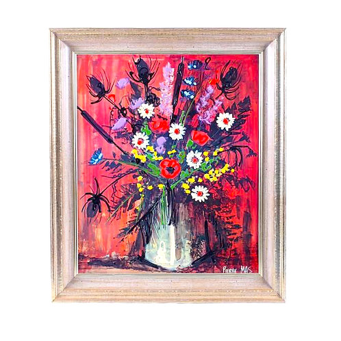 SOLD: Mid-Century Flower Still Life by Pierre Mas (1933-) France