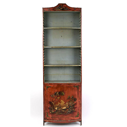 SOLD! Hand-Painted Chinoiserie Bookcase - Italian