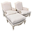 Thumbnail: Louis XV Bergere Duo With Matching Ottoman by Wynchwood Design